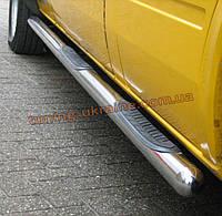Боковые пороги труба с проступью D70 (короткая база) на Volkswagen Crafter 2006-2016