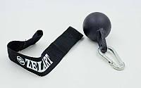 Шары для подтягиваний и тренировки силы рук FI-5170 Grip Balls (металл, нейлон, d-66мм,лямки l-38см)