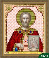 Набор для вышивки бисером икона Святой Великий Князь Дмитрий VIA 5022