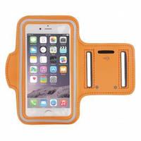 Спортивный чехол на руку для смартфона Armband оранжевый, фото 1