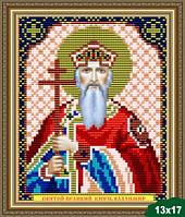 Набор для вышивки бисером икона Святой Великий Князь Владимир VIA 5024
