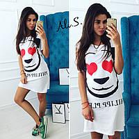 """Женское модное платье  """"Lovely Panda"""" (2 цвета)"""