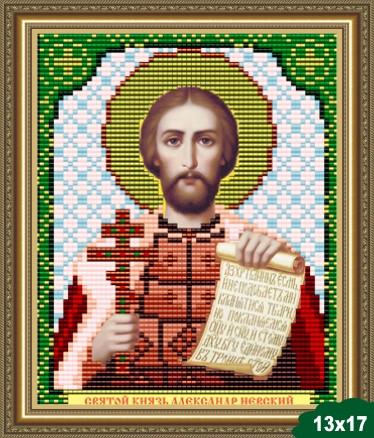 Набор для вышивки бисером икона Святой Князь Александр Невский VIA 5026