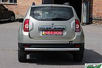 Защита заднего бампера  Dacia/Renault Duster 2010+ /ровная