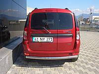 Защита заднего бампера  Dacia/Renault Logan MCV 05+ /ровная