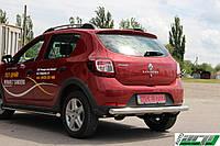 Защита заднего бампера  Dacia/Renault Sandero Stepway 2012+ /ровная