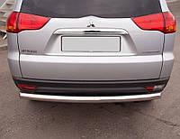 Защита заднего бампера Mitsubishi Pajero Sport 08+ /ровная