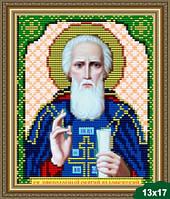 Набор для вышивки бисером икона Святой Преподобный Сергий Радонежский VIA 5034