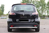 Защита заднего бампера Renault Scenic 13+ /ровная