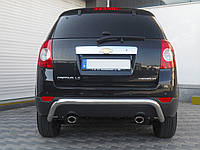 Защита заднего бампера Chevrolet Captiva  /изогнутая