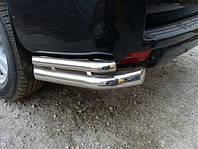 Защита заднего бампера Fiat Sсudo с (2007-) /двойн углы