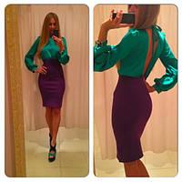 Платье 305 атласный верх, фото 1