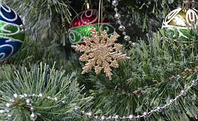 Снежинки новогодние золото 8шт 0517