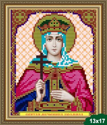 Набор для вышивки бисером икона Святая Мученица Людмила VIA 5056