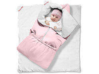 """Одеяло-трансформер Ontario Linen"""" Classic КОТЕНОК (85*90 см, цвет - розовый / бязь, силикон 300 / вышивка (С"""