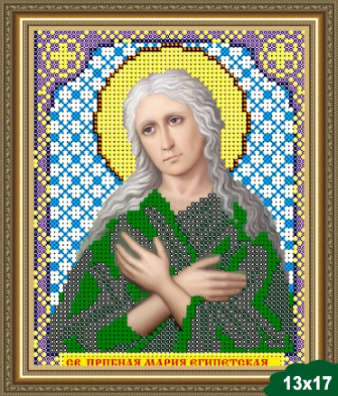 Набор для вышивки бисером икона Святая Преподобная Мария VIA 5058