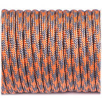 Паракорд Type III 550, grey orange quarter #344