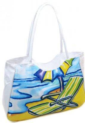 Очаровательная  пляжная сумка Podium 1328 white, белый