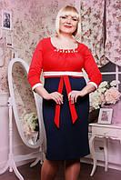 Трикотажное платье Катрин большие размеры 50-56