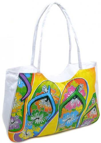 Белая женская  пляжная сумка Podium 1327 white