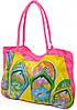Розовая пляжная сумка на молнии Podium 11327 pink
