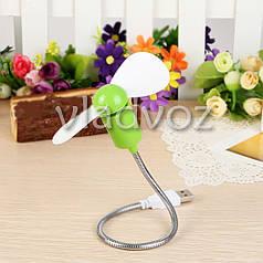 Мини вентилятор USB для ноутбука ПК нетбука салатовый