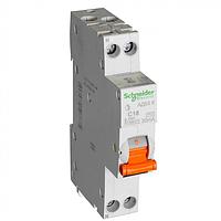 Дифференциальный автоматический выключатель Schneider Electric АД63К, 16A, 1P+N, 30 mA, С