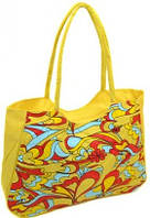 Желтая пляжная сумка на молнии Podium 1323 yellow