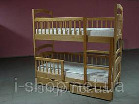 Кровать 2-х ярусная  Карина + нижние перегородки (тонировка орех, венге), фото 3