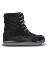 Шикарные cапоги-ботинки Crocs AllCast Leather Waterproof Duck Boot, Оригинал