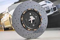 Задний левый керамический тормозной диск PCCB  | Porsche Macan