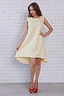 Женское яркое и модное летнее платье