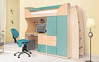 Детская мебель Комби морская волна/персик (Світ Меблів ТМ)