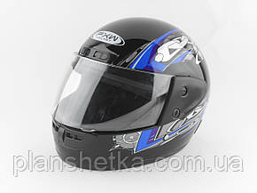Шлемы для мотоциклов Hel-Met 101 черный синий рисунок , фото 2