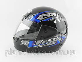 Шлемы для мотоциклов Hel-Met 101 черный синий рисунок , фото 3