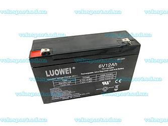 Свинцово кислотный аккумулятор на 6V/12Ah
