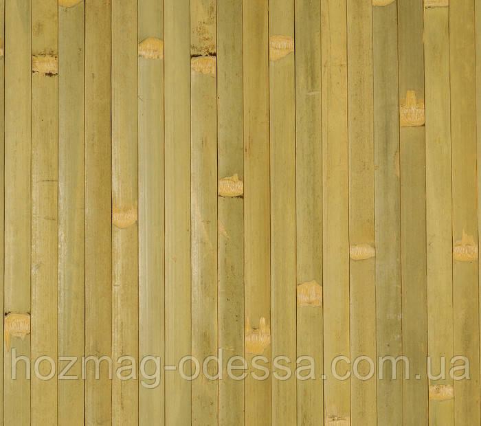 Бамбуковые обои, бледно-зеленые, ширина 90 см.