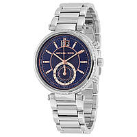 Часы Michael Kors Sawyer Blue Dial Stainless Steel Band MK6224