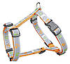 Trixie  TX-12258 шлея для собак Silver Reflect H-Harness  50-75 см / 20 мм