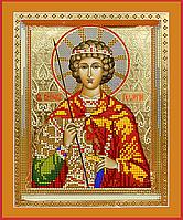 Схема для вышивки бисером POINT ART Св. Георгий Победоносец, размер 20х24 см