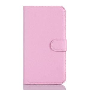 Чехол книжка для Doogee X5 / X5 Pro боковой с отсеком для визиток, Розовый