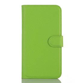 Чехол книжка для Doogee X5 / X5 Pro боковой с отсеком для визиток, Зеленый