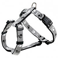 Trixie  TX-12233 шлея для собак Silver Reflect H-Harness   50-75 см / 25 мм