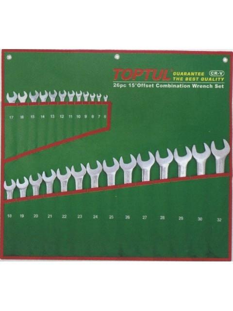 Набор ключей комбинированных 26 шт. 6-32 (полированных)