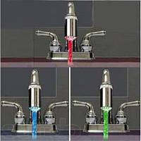 Насадка на кран с подсветкой Цветная вода, фото 1