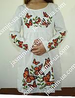 Платье с вышивкой детское