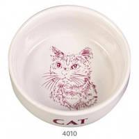 Миска керамическая для кошек 0.3л, Трикси 4010