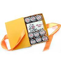 Шоколадные наборы для женщин. Подарочный набор конфет с пожеланиями