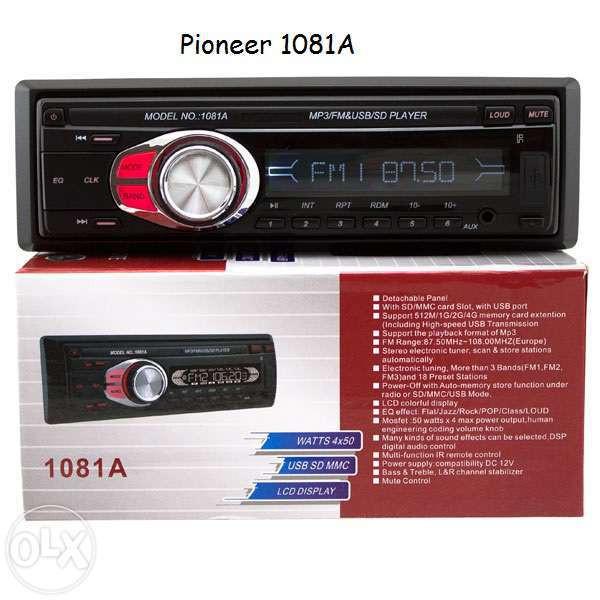Автомагнитола MP3 Pioneer 1081A SD +пульт ДУ+USB