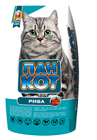 Пан Кот Рыба сухой корм для кошек 10 кг